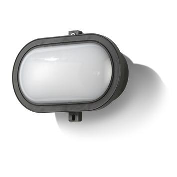 GAMMA bull-eye hublot Eston met geïntegreerde LED 5,5W 450 lumen zwart