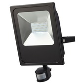 Projecteur avec détecteur de mouvement GAMMA LED intégrée 50W 3000 lumens noir