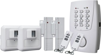 Système d'alarme sans fil Smartware avec 2 détecteurs de mouvement, 2 détecteurs magnétiques et transmetteur téléphonique HA32S