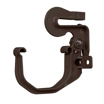 Patte de fixation pour panneau ondulé Martens 65 mm brun