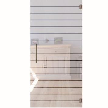 Solid binnendeur Vetro C006 glas met horizontale strepen 201x83 cm