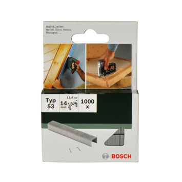 Agrafes type 53 Bosch 14 mm 1000 pièces