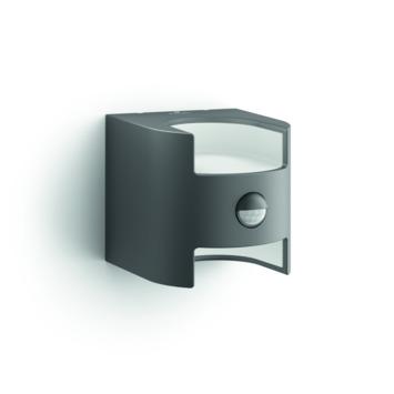 Applique extérieure avec détecteur de mouvement Grass Philips LED intégrée 2x4,5W 1600 lumens anthracite
