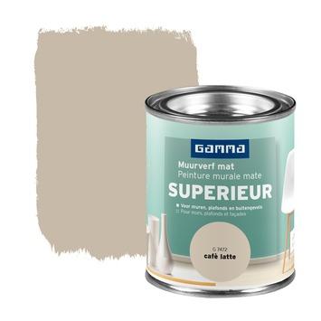 Peinture murale GAMMA Superieur extra mat 100 ml caffè latte