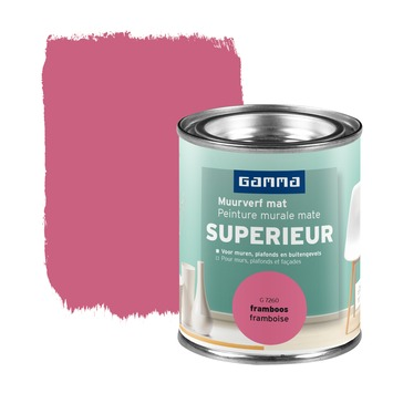 GAMMA Superieur muurverf extra mat framboos 100 ml