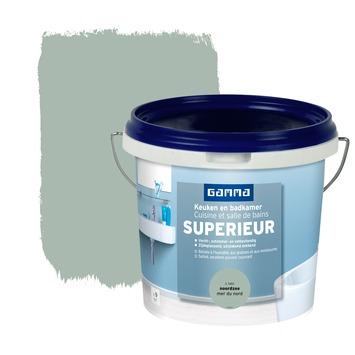GAMMA Superieur muurverf keuken en badkamer zijdeglans noordzee 1 l ...