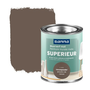 GAMMA Superieur muurverf extra mat cacaopoeder 100 ml