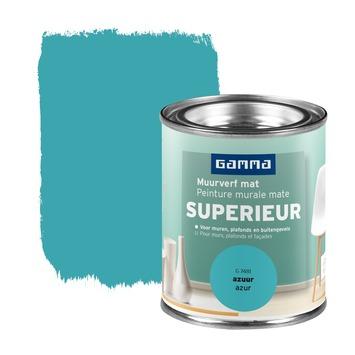 GAMMA Superieur muurverf extra mat azuur 100 ml