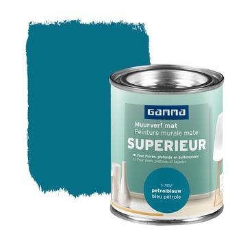 Peinture murale GAMMA SUPERIEUR mat 100 ml bleu pétrole