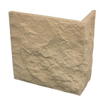 Brique de parement d'angle Mega Euroc beige 4 pièces