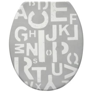 Handson Jari wc bril met softclose letters kunststof