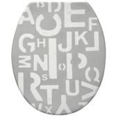 Siège WC Jari Handson soft-close synthétique lettres