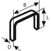 Bosch nietjes type 53 - 6 mm 1000 stuks