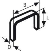 Bosch nietjes type 53 - 4 mm 1000 stuks