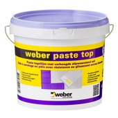 Colle en pâte pour carrelages Top Weber 8 kg blanc