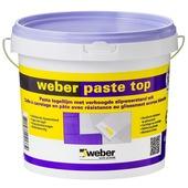 Colle en pâte pour carrelages Top Weber 4 kg blanc
