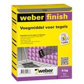 Mortier de jointoyage Weber 4 kg gris