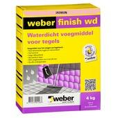Mortier de jointoyage étanche Weber 4 kg jasmin