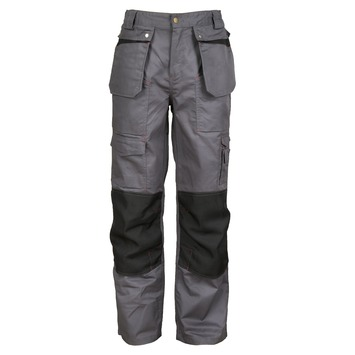 Werkbroek comfort grijs-zwart L