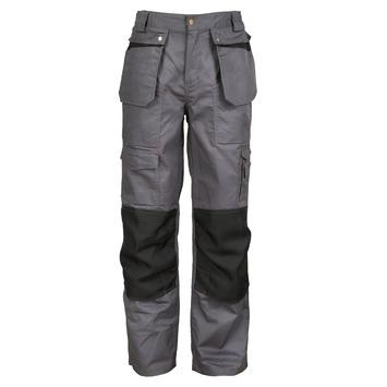 Pantalon de travail Crosshatch confort gris-noir XXL