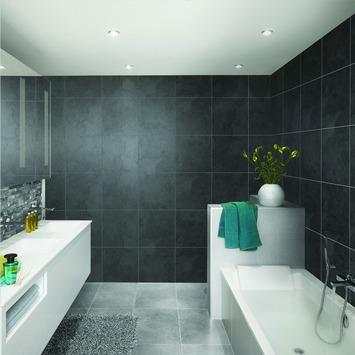 Grosfillex paneel Element Square premium zwart 3,9m²