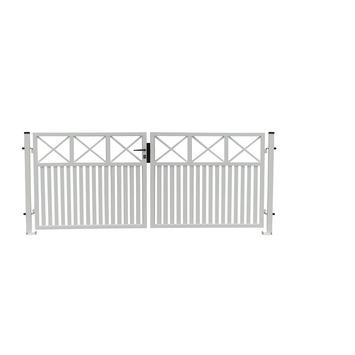 portillon double alu capri blanc 150x300 portes de jardin. Black Bedroom Furniture Sets. Home Design Ideas