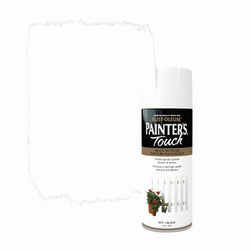 Rust-Oleum Painter's Touch spuitlak mat wit 400 ml