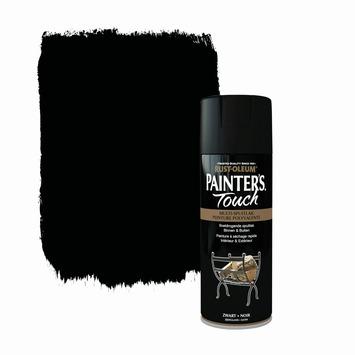Rust-Oleum Painter's Touch spuitlak zijdeglans zwart 400 ml