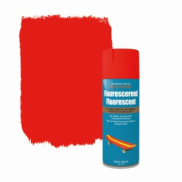 Rust-Oleum fluorescerende verf mat rood 400 ml