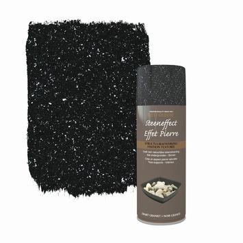 Rust-Oleum spuitlak steeneffect mat zwart graniet 400 ml