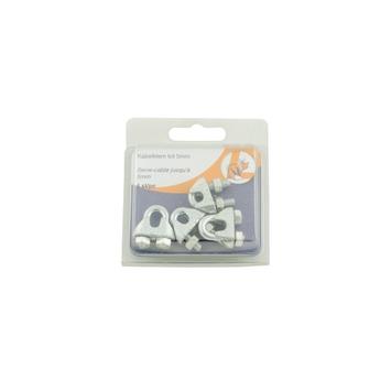 Kabelklem 5 mm verzinkt 4 stuks