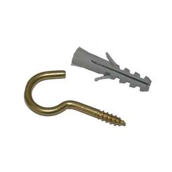 GAMMA plug nylon 5x40 mm met schroefhaak messing 8 stuks