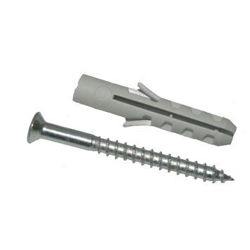 GAMMA plug nylon 6 mm met spaanplaatschroef 12 stuks