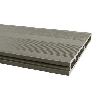Planche de terrasse WPC XL 2,5x25x300 cm gris