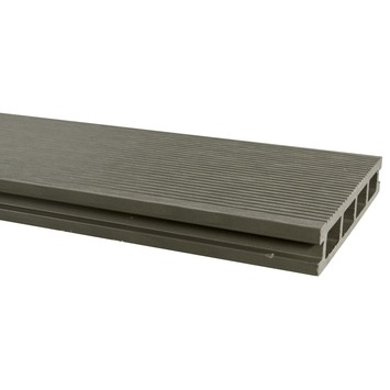 Terrasplank WPC 2,5X15X300 cm grijs