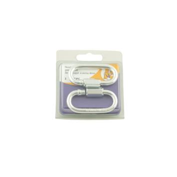 Kettingsluiting met moer verzinkt 6 mm