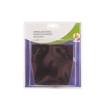 Oproldoos voor 5-7 m lint 22 mm bruin