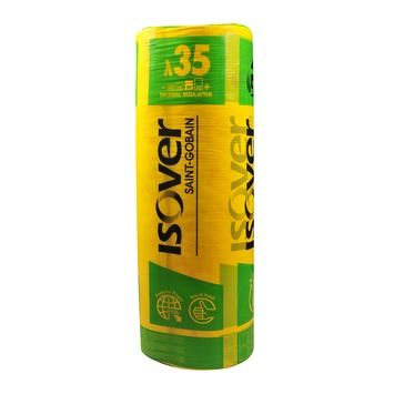 Isover Isoconfort 35 glaswolrol 20 cm 2,64 m² R=5,70 220x120 cm (enkel in de webshop te koop)