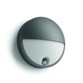 Philips wandlamp Capricorn met bewegingsmelder met geïntegreerde LED 6W 600 lumen antraciet