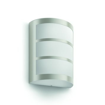 Applique extérieure Python Philips LED intégrée 6W 600 lumens inox