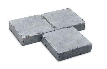 Terrastegel Bluestone Getrommeld Grijs 20x20x5 cm - 180 Tegels / 7,2 m2