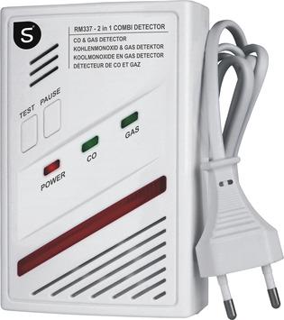 Smartwares 4 in 1 Combimelder Koolmonoxide Aardgas Butaan en Propaan RM337 230 V
