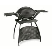Weber elektrische barbecue Q2400 dark grey met standaard