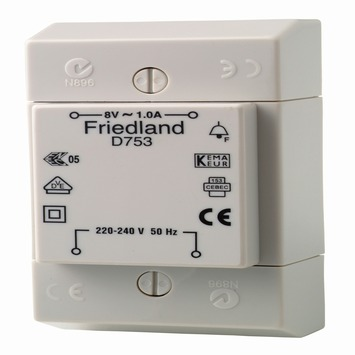 Friedland transformator voor bel 8V 1A