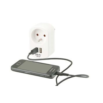 Prise protégée Exin avec 2x USB 5 V