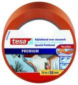 Tesa afplaktape voor plaaster 33 m x 50 mm oranje