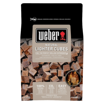 Weber aanmaakblokjes 48 st. bruin eco