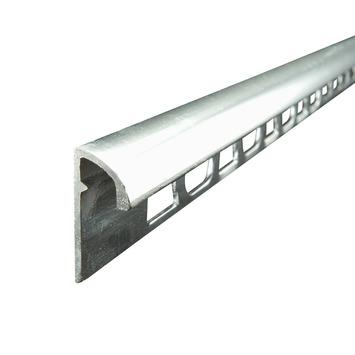 Tegelstrip Metaal Rond Zilver 8 mm 270 cm