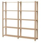 Handson opbergrek hout 5 legborden 45 kg/legbord 170x170x30 cm