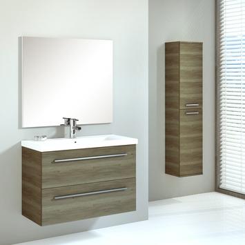 Badkamermeubel Hera set 80 cm hout met kolomkast | null | GAMMA.be